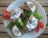 Croûtons de chèvre chaud et sa salade verte
