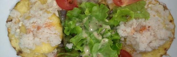 1/2 Ananas aux miettes de crabes